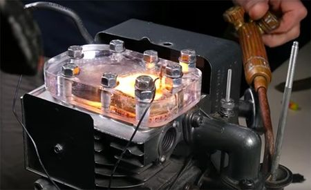 Watch Internal Combustion in Action with This See-Through Engine [Video]