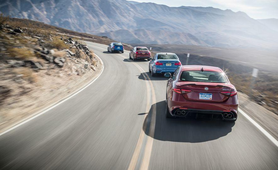 2017 Cadillac ATS-V, 2017 Alfa Romeo Giulia Quadrifoglio, 2017 BMW M3, 2017 Mercedes-AMG C63 S - Slide 2