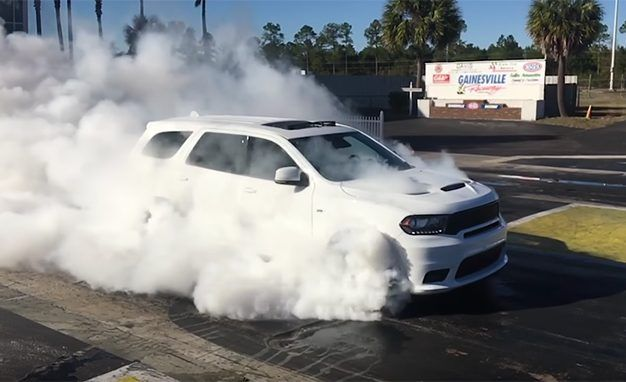 Watch the 2018 Dodge Durango SRT Do a Four-Wheel Burnout [Video]