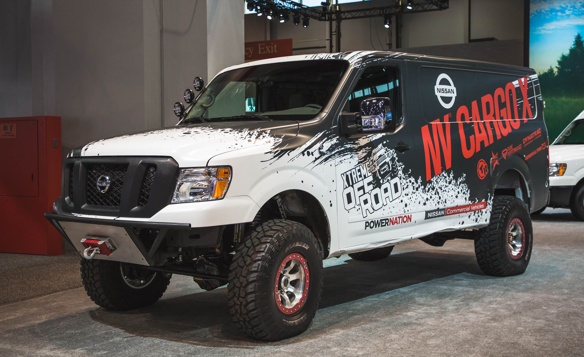 Nissan s lifted turbo diesel 4 4 van could deliver packages anywhere