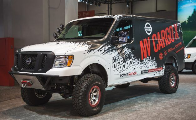 Nissanu0027s Lifted Turbo Diesel 4×4 Van Could Deliver Packages Anywhere