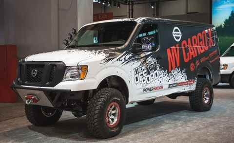 nissan s lifted turbo diesel 4x4 van could deliver packages anywhere