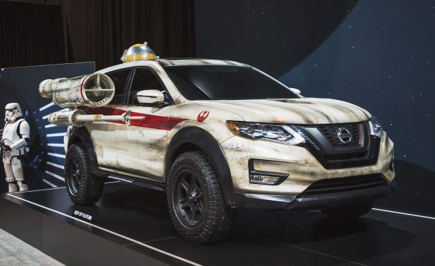 Nissan Dresses Up the Rogue As a Star Wars X-Wing Fighter
