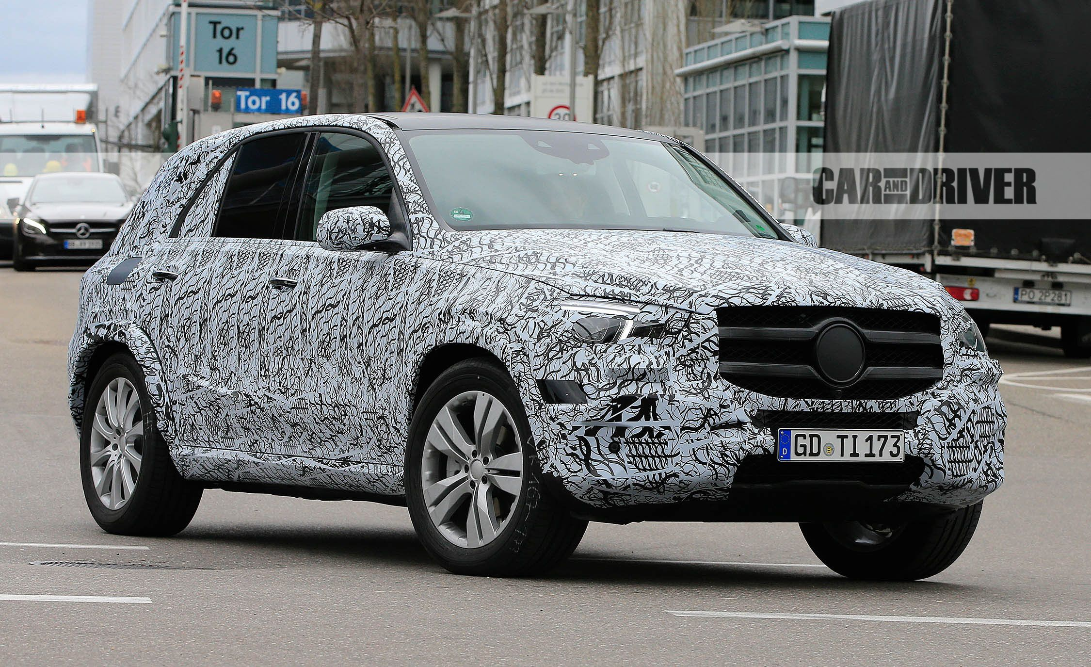 2019 Mercedes Benz GLE Class Spied Outside The Factory