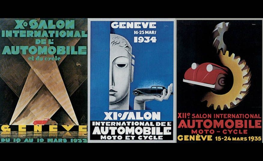 See Every Geneva Auto Show Poster from 1924 to 2017 - Slide 5