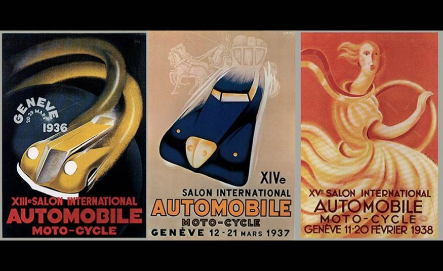 See Every Geneva Auto Show Poster from 1924 to 2017 - Slide 6