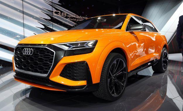 Audi Repaints Q8 Concept Krypton Orange, Gives It 476-HP Twin-Turbo V-6 Hybrid Powertrain