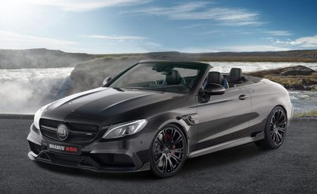 Raindrop, Droptop, the Brabus 650 Cabrio Does 200 MPH in One Pop