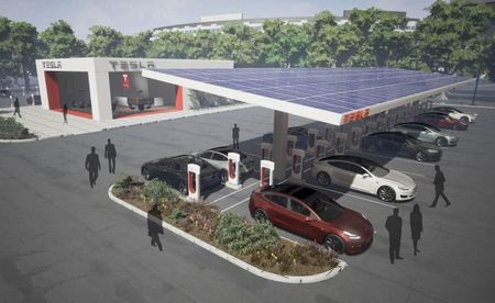 Tesla Installing More Urban Chargers as BMW and Nissan Build Road-Trip Waypoints