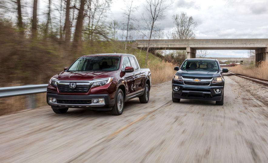 2017 Honda Ridgeline RTL-E AWD and 2017 Chevrolet Colorado LT 4WD - Slide 1