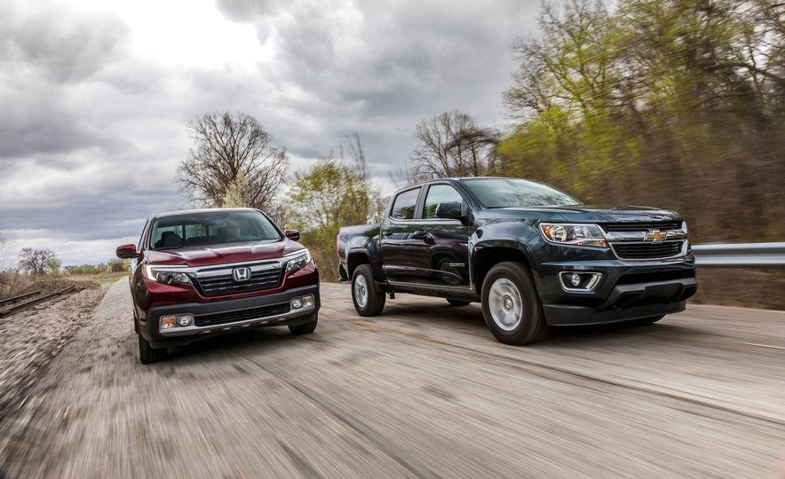 2017 Honda Ridgeline RTL-E AWD and 2017 Chevrolet Colorado LT 4WD - Slide 2