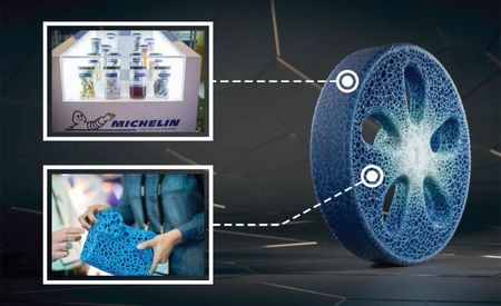 Michelin Reveals Another Airless Wheel/Tire Concept, But This One Is Biodegradable and 3D Printed