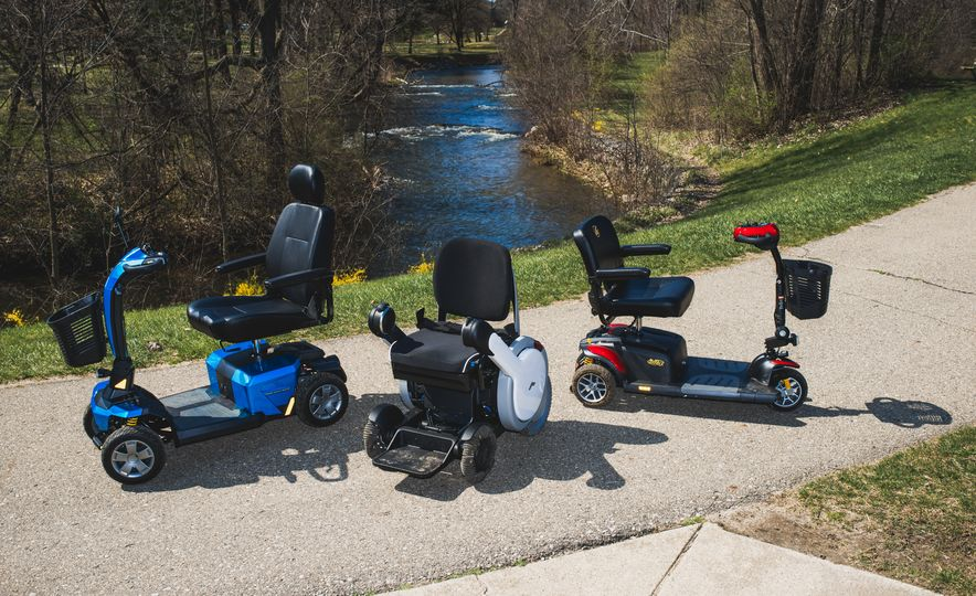 Pride Mobility Victory 10 LX, Golden Tech Buzzaround EX, and Whill Model A - Slide 3
