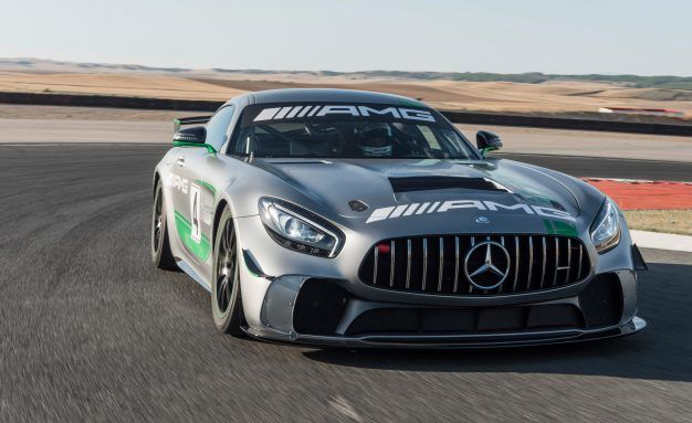 All Falter in the Back: Mercedes-AMG GT4 Race Car Ready to Win