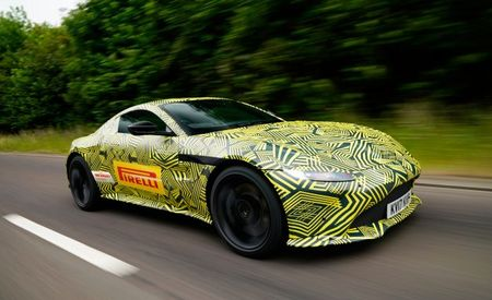 Near-Production 2018 Aston Martin Vantage Spied, Shows Influence from 007's DB10