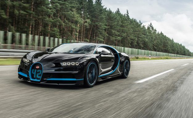 The Bugatti Chiron Set Its First Record: Zero to 249 MPH to Zero in 42 Seconds