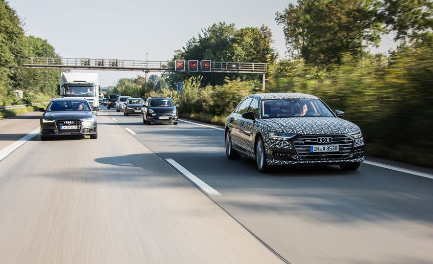 2019 Audi A8 with Traffic Jam Pilot - Slide 1