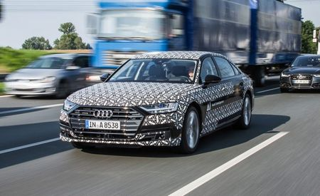 Traffic Jamming: In the 2019 Audi A8, We Let Automated-Driving Tech Take the Wheel