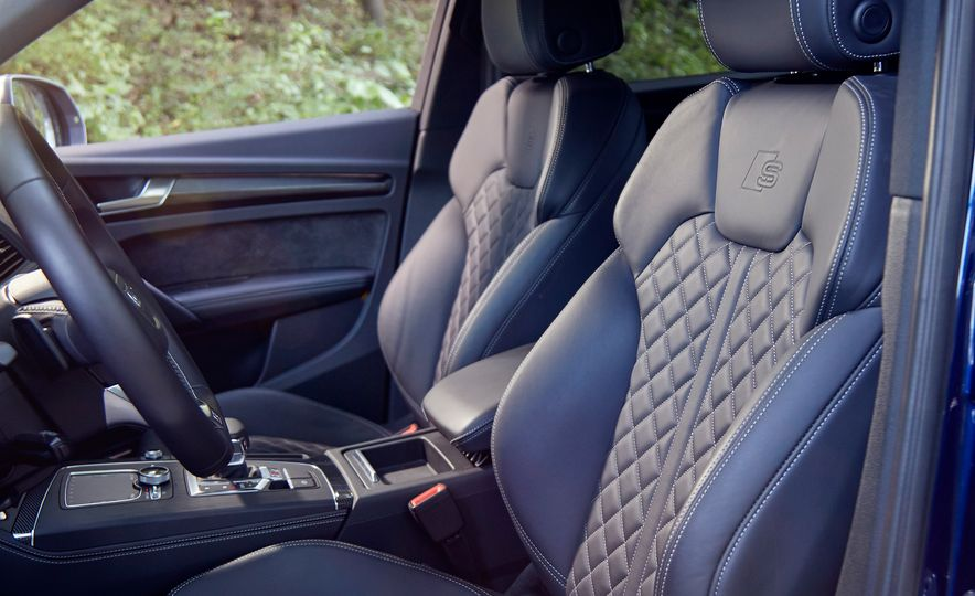 2017 Mercedes-AMG GLC43, 2018 Audi SQ5, and 2017 Porsche Macan S - Slide 10