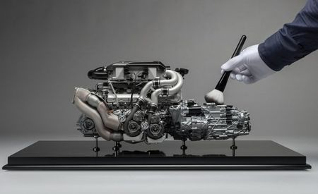 Gorgeously Detailed 1:4 Bugatti Chiron Engine Model Is Still Too Rich for Our Blood