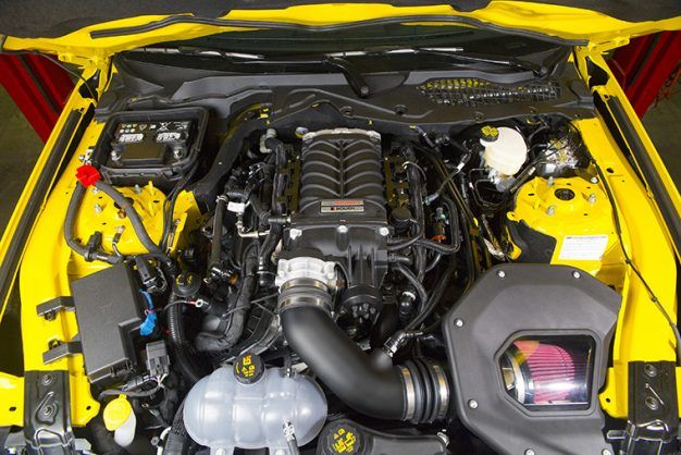 System Of The 2018 5 0 Liter V 8 With Either An Automatic Or Manual Transmission Supercharger S 12 Psi Boost Pushes Output In Mustang Gt