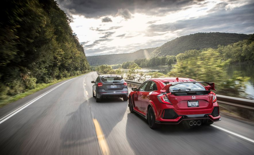 2017 Honda Civic Type R and 2017 Ford Focus RS - Slide 2