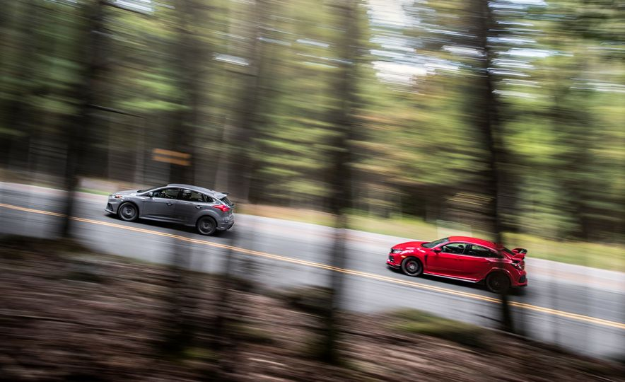 2017 Honda Civic Type R and 2017 Ford Focus RS - Slide 3