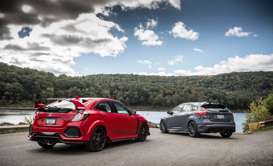 2017 Honda Civic Type R and 2017 Ford Focus RS - Slide 5