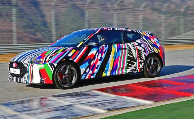 Hatchback in Hiding: The 2019 Hyundai Veloster Steps Out in Disguise