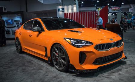 Twice Stung: Kia Displays a Pair of Customized Stingers