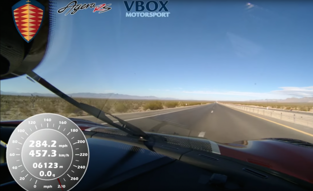 Koenigsegg Hits 277.9 MPH, Setting Speed Record on Public Road in Nevada! [Video]