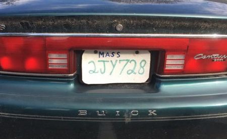 Somehow, This DIY License Plate Failed to Fool the Cops