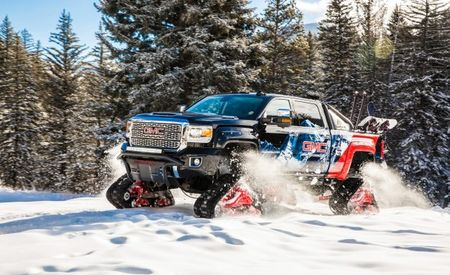 Snodozer! GMC Adds Tracks to a Sierra 2500HD