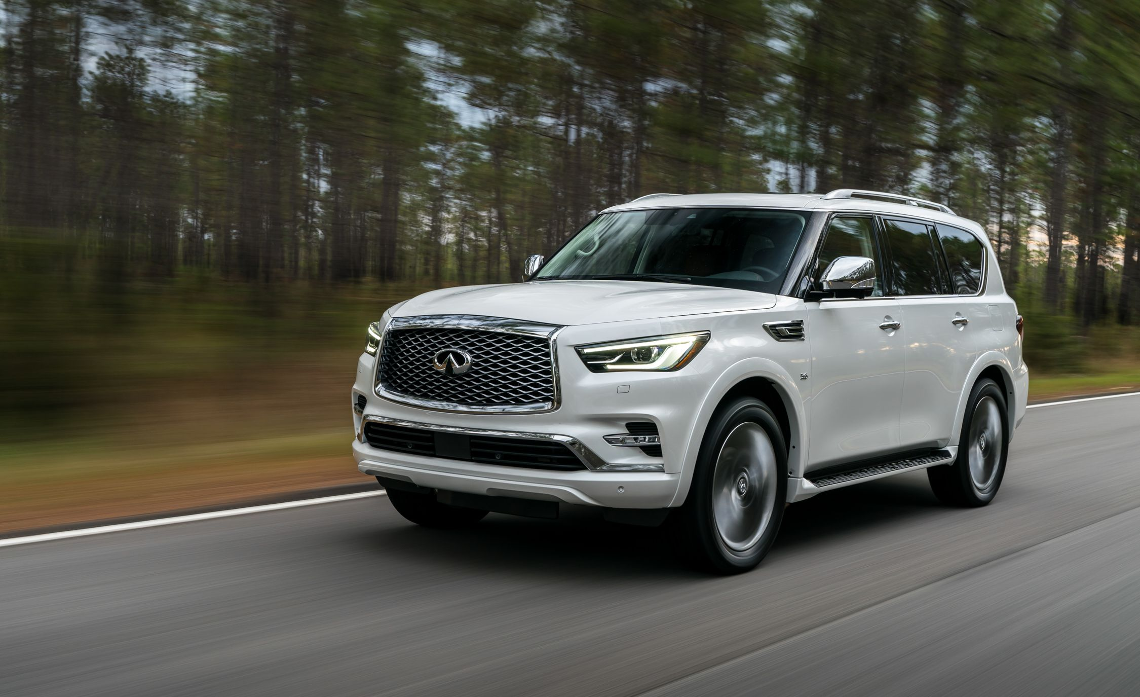 infiniti static parkers review exterior suv