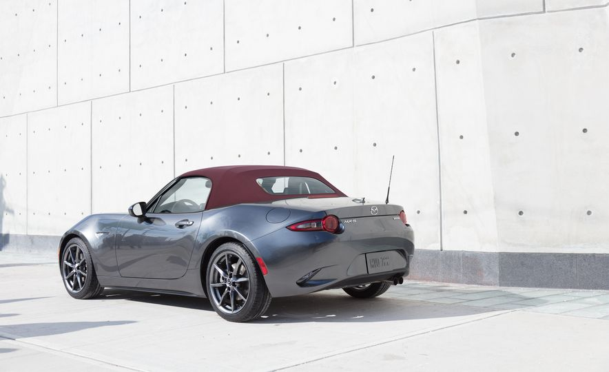 2018 Mazda MX-5 Miata with Dark Cherry softtop - Slide 1