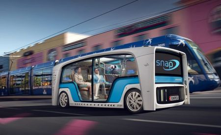 """Kiss Me, I'm in an Autonomous Car: Rinspeed Snap Concept Is for """"Cuddling"""""""