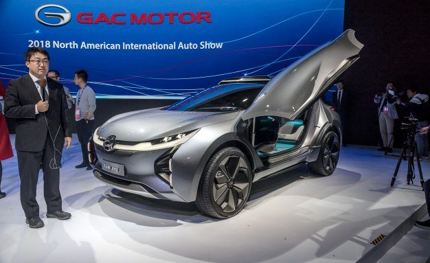 China's GAC Debuts EV Concept, Announces U.S. Sales in 2019