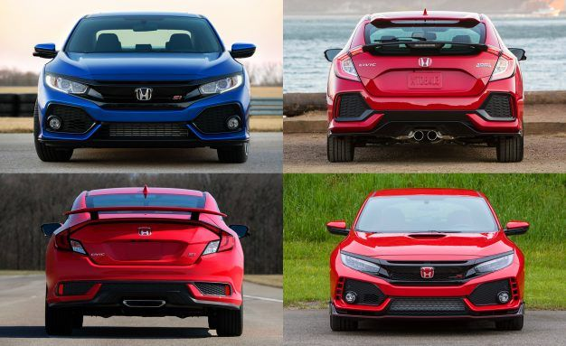 2018 Honda Civic Si. How The Sportiest Honda Civics Compare On Price,  Performance, And More [Infographic]