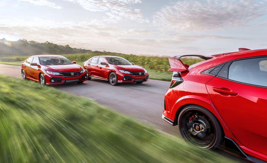 2018 Honda Civic Si sedan, Civic Sport, and Civic Type R - Slide 1
