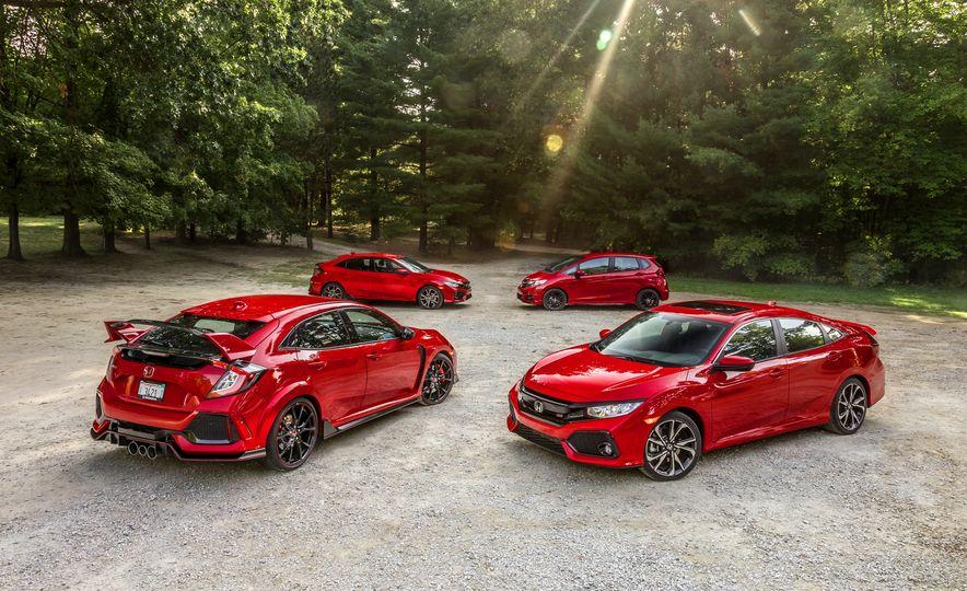 2018 Honda Civic Si sedan, Civic Sport, and Civic Type R - Slide 2