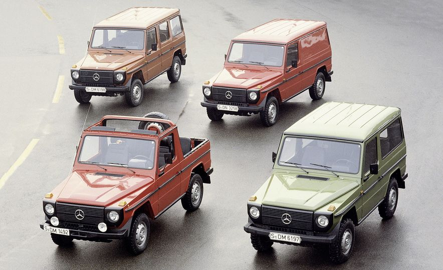 From Brute to Bourgeois: A Brief Visual History of Mercedes-Benz's G-wagen SUV - Slide 2
