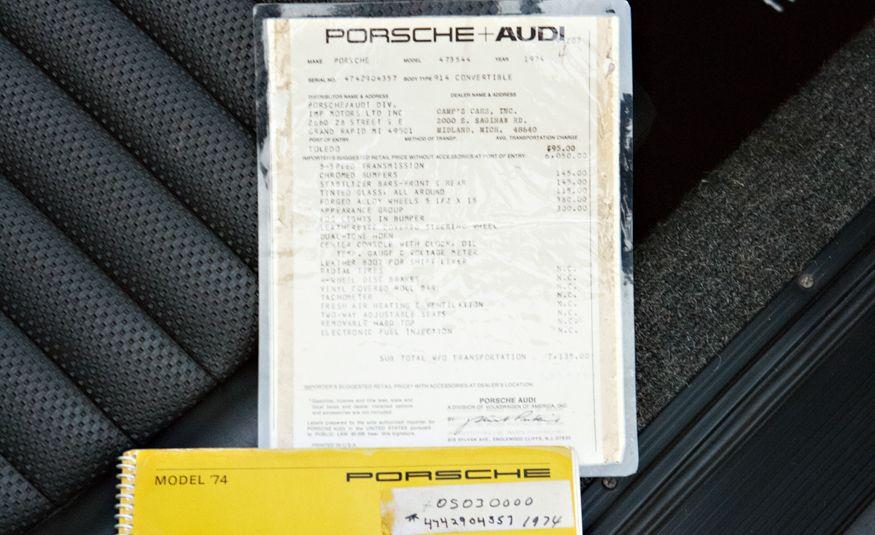 1974 Porsche 914 2.0 - Slide 28