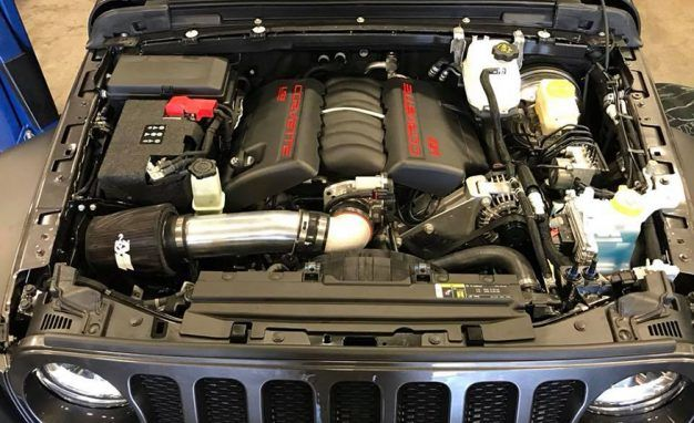 Someone Has Already Stuffed a V-8 in the New JL Jeep Wrangler