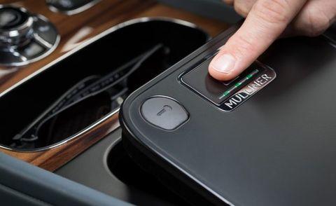 Bentley Bentayga Fingerprint Technology