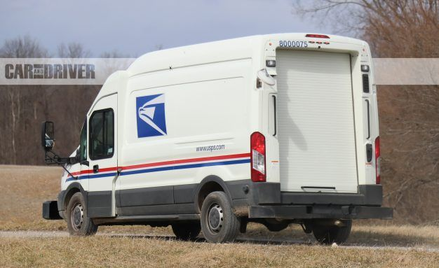 view 27 photos ford transit mail truck spy photos