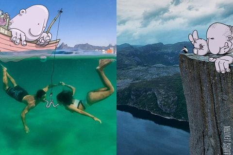 Organism, Leisure, Tourism, Summer, People in nature, Vacation, Adventure, Extreme sport, Holiday, Animation,