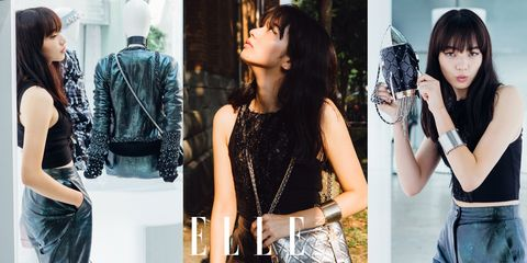 Black, Clothing, Shoulder, Beauty, Fashion, Jeans, Waist, Black hair, Street fashion, Denim,