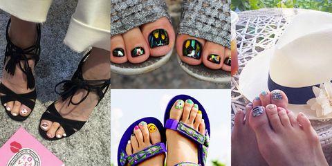 Human, Toe, Nail, Nail care, People in nature, Nail polish, Foot, Organ, Fashion, Purple,
