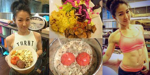 Food, Cuisine, Meal, Cut flowers, Dish, Petal, Abdomen, Magenta, Waist, Recipe,