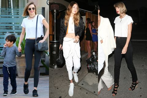 Clothing, Footwear, Leg, Trousers, Textile, Denim, Outerwear, White, T-shirt, Style,